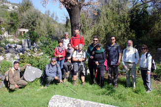 A happy group of Trekkers on the Lycian Way