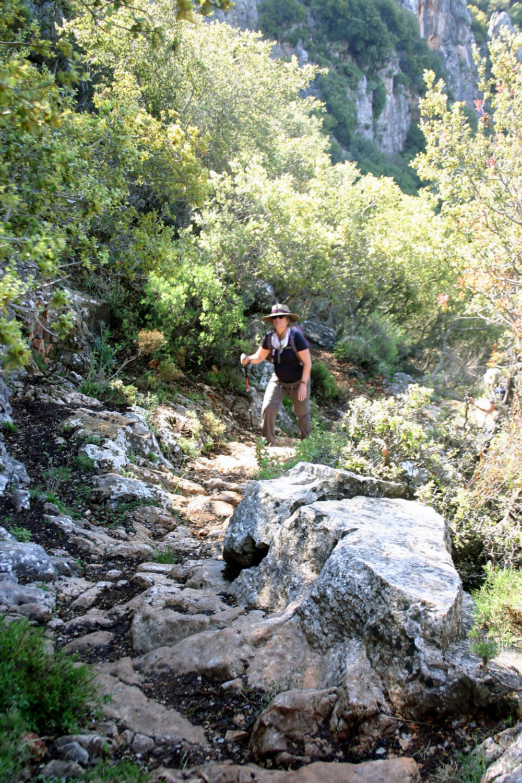 Near the summit of the lycian way trek from antiphellos