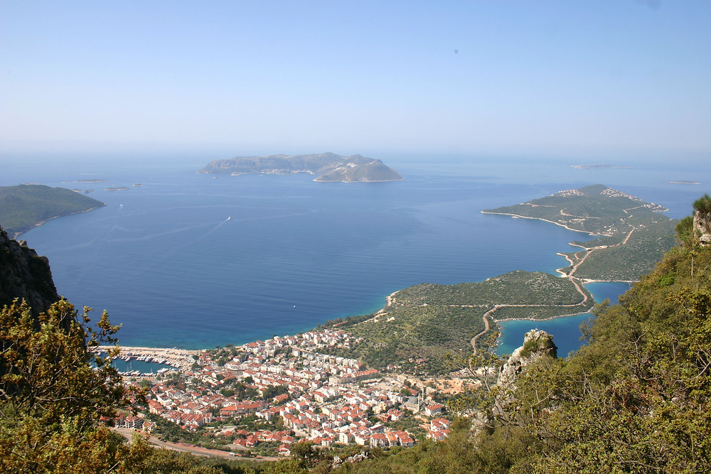 Kas as seen from the Lycain trail