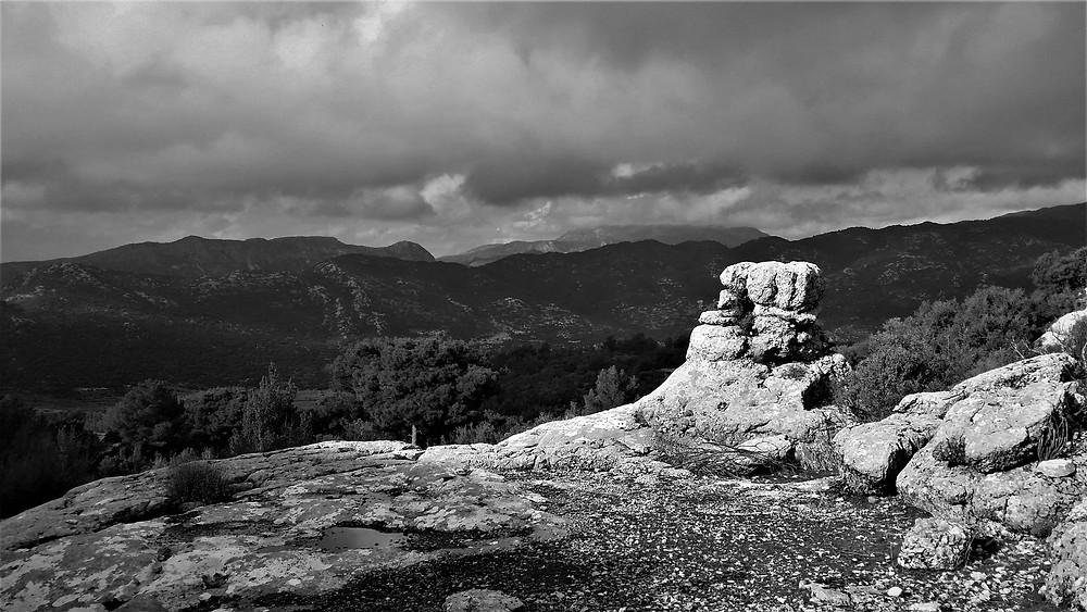 Eroder rock near saribelen on the Lycian way trekking path