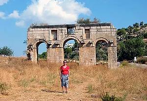 Patara Modestus gate at end of trek