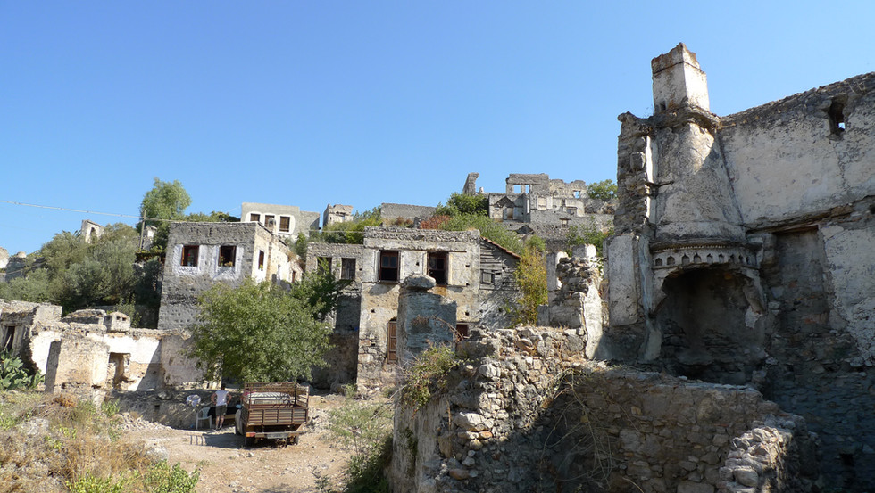 General view of Kayakoy Houses