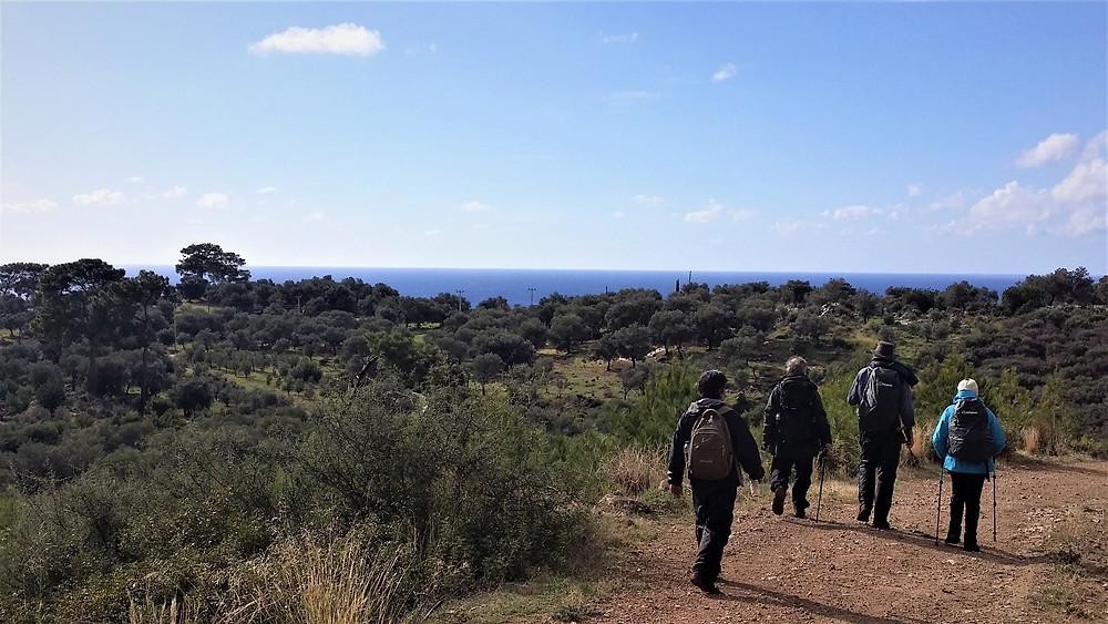 Lycian way walking to Patara