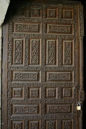 Wooden carved door of Egirdir Madrassa