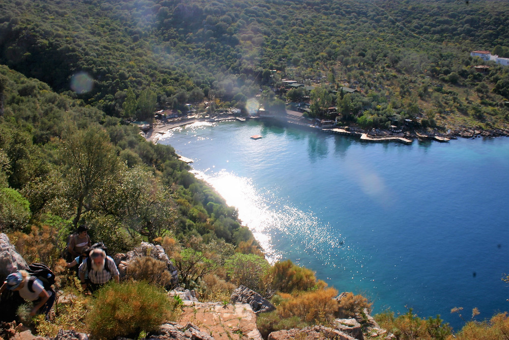 Following the paint marks of Lycian Way at Limanağzi