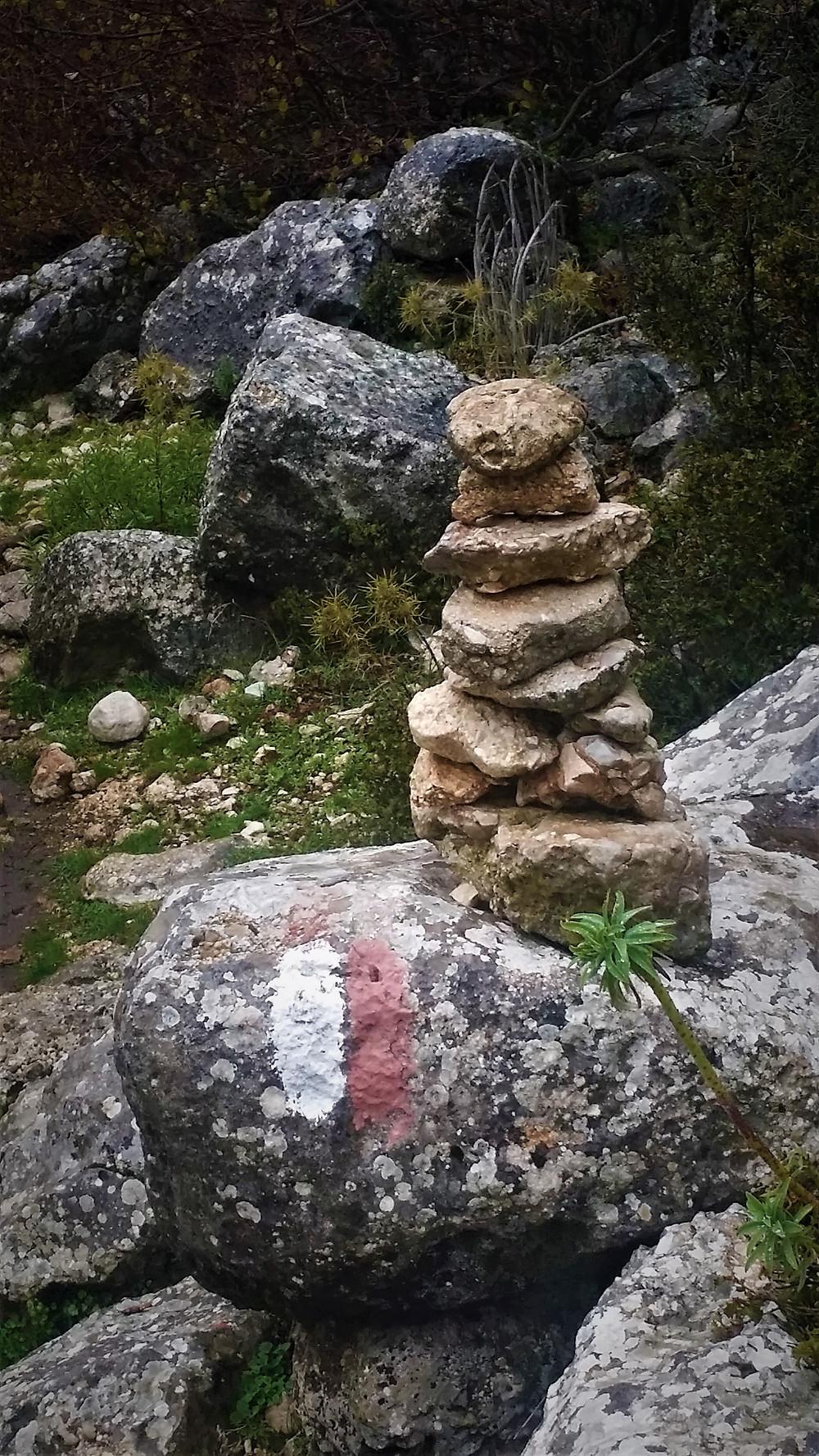 Marker on the Lycian way between Gokceoren and Saribelen