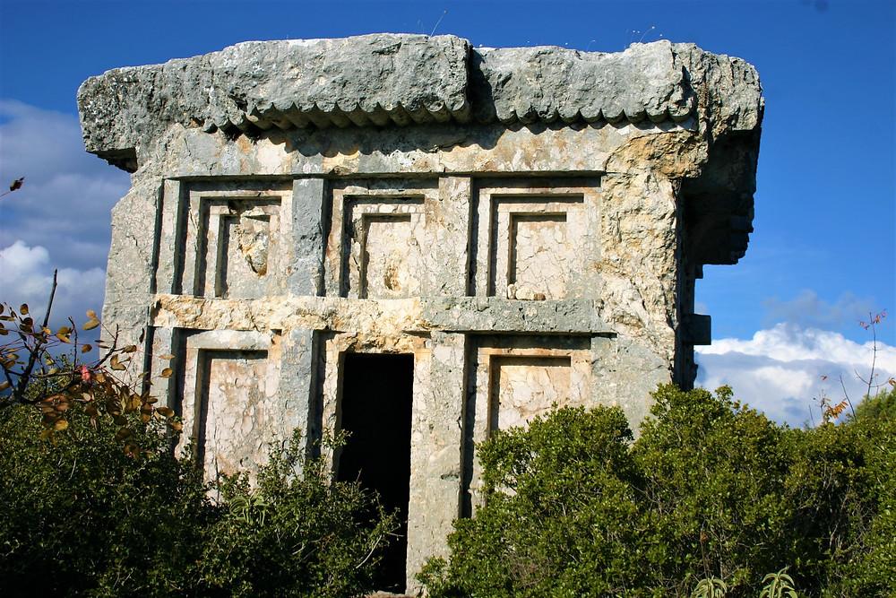 Tomb in Heroom of Phellos. A fine Lycian City.