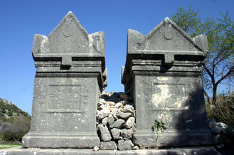 Twin Sarcophagii from the Roman Period in Sidyma