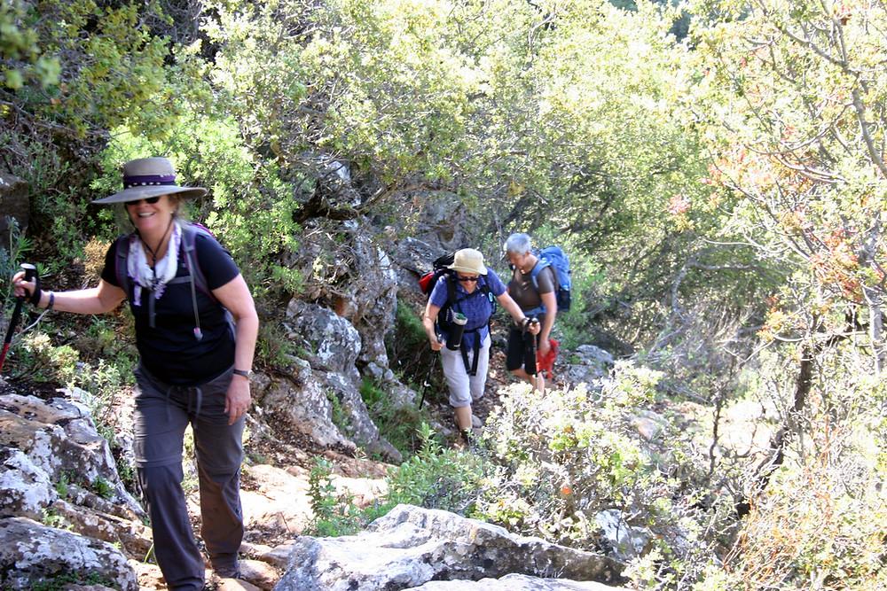 Near the summit of the lycian way trek from Kas