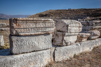 Latin Inscription at Pisididian Antioch. Thanks to Curt Bidinger