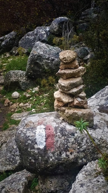Lycian way marks and cairns