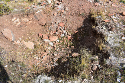Illegal excavations at Church on St Paul Trail