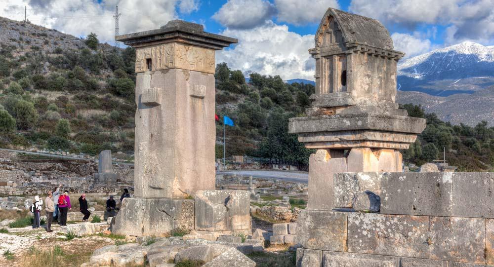 Harpy tomb in UNESCO site Xanthos