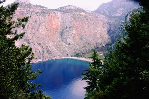 Butterfly valley from the trekking route