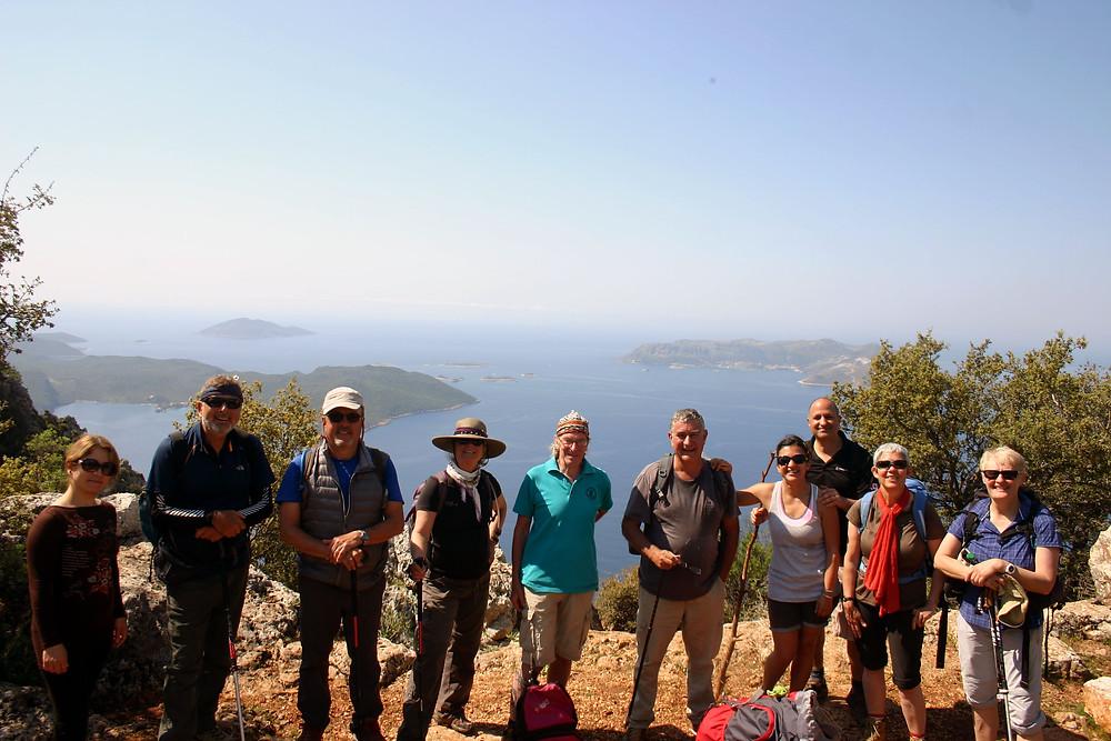Trekkers on the Lycian Way above Kas