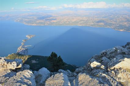 Egirdir lake with shadow of Mt Sivri