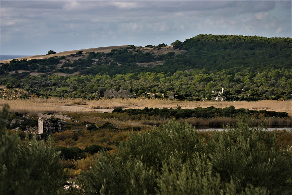 The Harbour of Patara now a marsh.