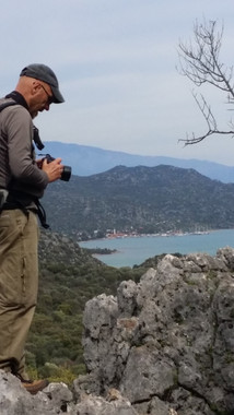 The villa ge of Ucagiz on the Lycian Way from afar.