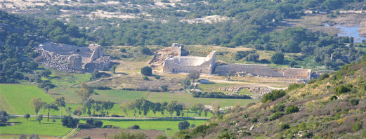 View of the Theatre and Parliament chamber of Patara