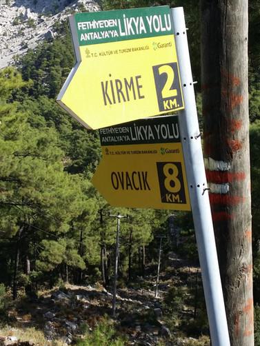 Ovacik - Kirme Lycian way signposts