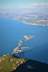Green island of Egirdir from Mt Sivri