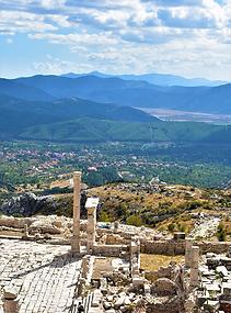 View of a trek in Sagallasos