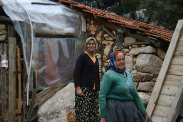 Local people in the hills near Kas