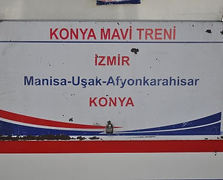 The Konya Blue train board