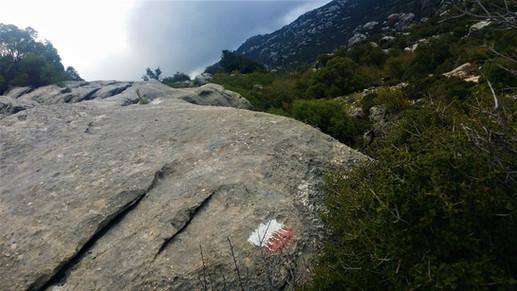 Lycian way paint marks on rock