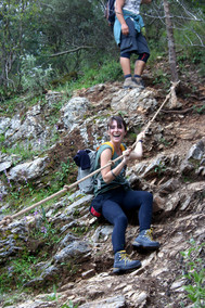 Between Faralya and Kabak there are some ropes to help