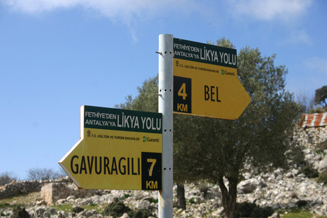 The trekkign signposts keep you on track