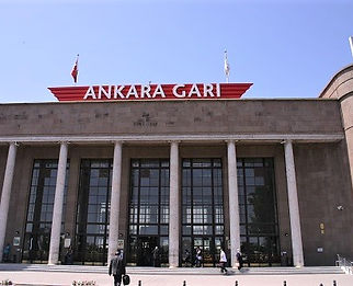 Ankara train station in Turkey
