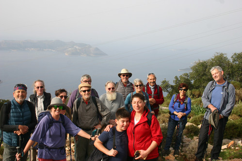 Group of Trekkers at Kas on the Lycian Way