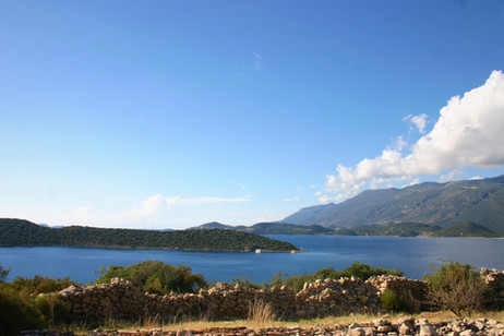 The viea of the kas bay from the walking route