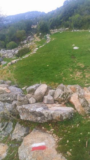 Threashing cirle on the trekking route