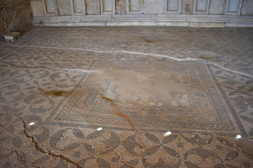 Detail of the mosaics in the Neon Lİnrary