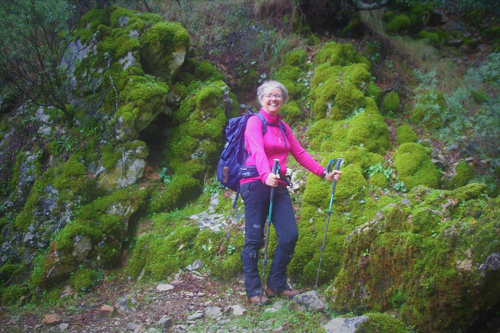 Karen McGrath while trekking in Lycia