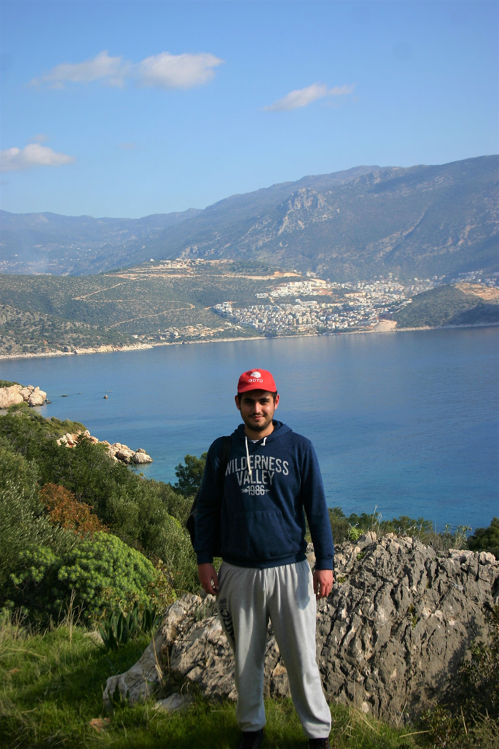 Lycian way hiker near Kalkan