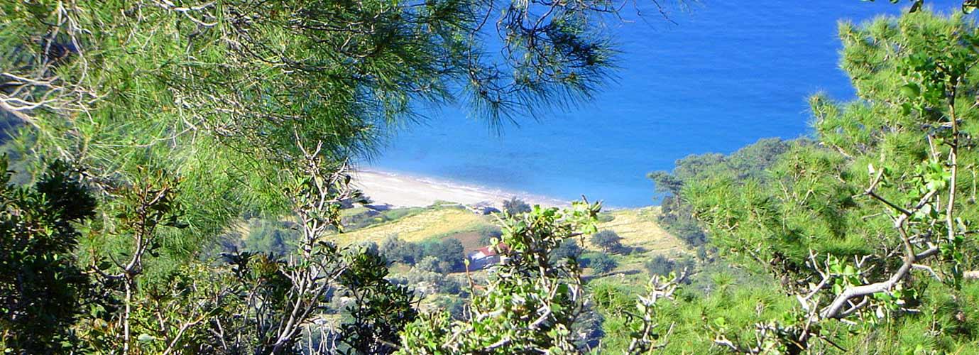 Kabak bay from the Lycian Way.