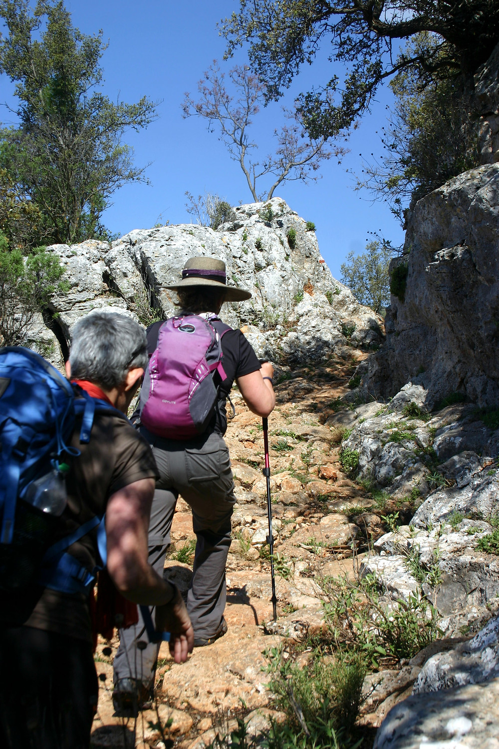The Lycian way as it approaches the sleeping giant