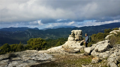 The strange conglomerate rocks