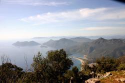 View from Lycian Way to Oludeniz
