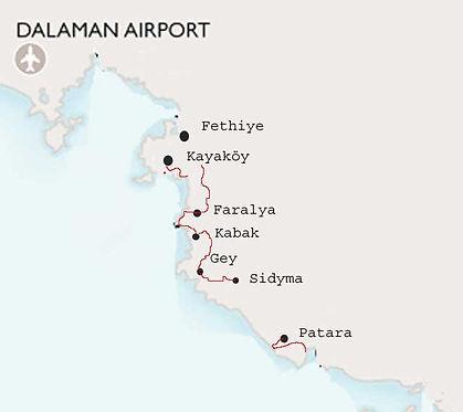 Lycian Way West Map