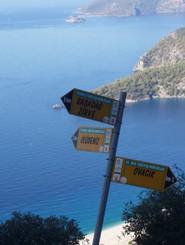 Trekking Signs in Lycia