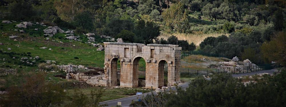 The ceremonail entrance to Patara, Lycian Capital City