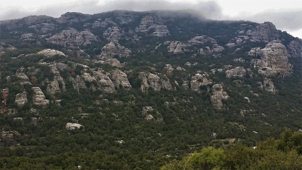 Eroded conglomerate rock near Saribelen central Lycian Turkey