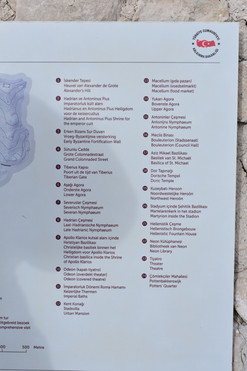 Key to the Map of Sagalassos