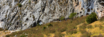 Stele and ancient rock tomb remains at Sagalassos