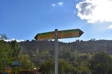 St Paul Trail signpost at Akpinar village