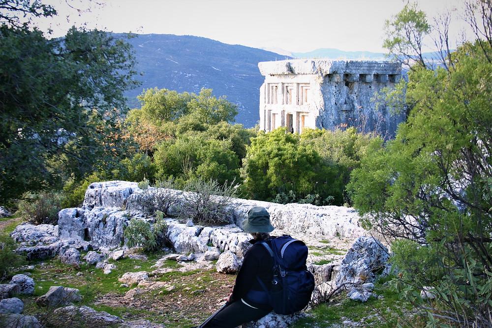 Phellos. Lycian City on the hill Royal enclosure